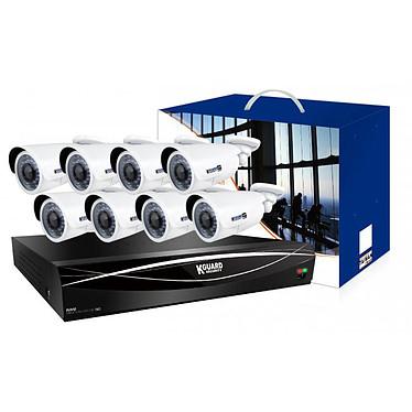 KGuard Security HD1681-8WA813F Kit de surveillance tout-en-un NVR 24 Channels avec 8 caméras incluses