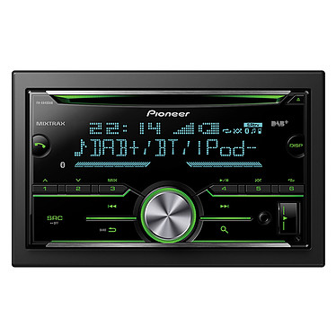 Pioneer FH-X840DAB Autoradio CD/MP3, contrôle iPod/iPhone, Android, USB, Bluetooth, Spotify, entrée auxiliaire et MITRAX