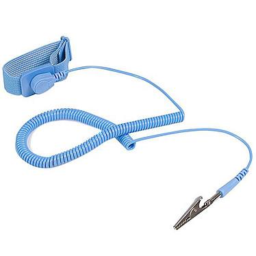 StarTech.com SWS100 Muñequera antiestática con cable de toma de tierra y protección contra sobretensiones
