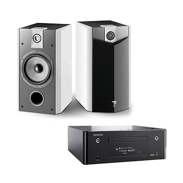 Denon CEOL N9 Noir + Focal Chorus 706 V White Style Micro-chaîne CD MP3 USB réseau Wi-Fi Bluetooth DLNA avec contrôle iOS et Android + Enceinte bibliothèque (par paire)