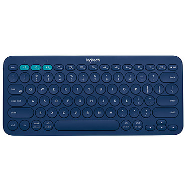Logitech Multi-Device Keyboard K380 Bleu Clavier sans fil Bluetooth - compatible Android et iOS (AZERTY, Français)