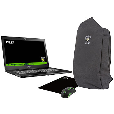 "MSI WS72 6QH-031FR + Workstation Travel Pack OFFERT !* Intel Core i7-6700HQ 8 Go 1 To 17.3"" LED Full HD NVIDIA Quadro M600M Wi-Fi AC/Bluetooth Webcam Windows 10 Professionnel 64 bits (garantie constructeur 3 ans)"