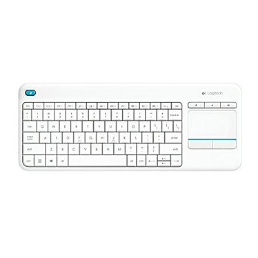 Logitech Wireless Touch Keyboard K400 Plus Blanc
