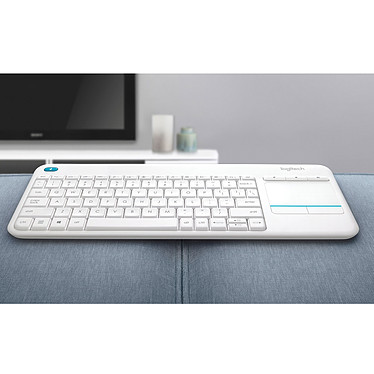 Logitech Wireless Touch Keyboard K400 Plus Blanc pas cher