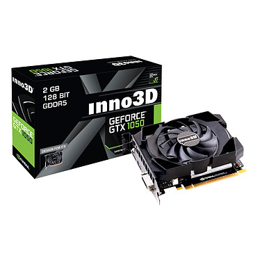 INNO3D GeForce GTX 1050 Compact 2048 MB DVI/HDMI/DisplayPort - PCI Express (NVIDIA GeForce con CUDA GTX 1050)