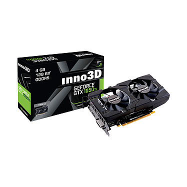 INNO3D GeForce GTX 1050 Ti Twin X2 4 Go GDDR5 -  DVI/HDMI/DisplayPort - PCI Express (NVIDIA GeForce GTX 1050 Ti)