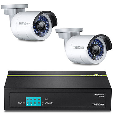 TRENDnet TV-IP310PI x 2 + TRENDnet TPE-S50