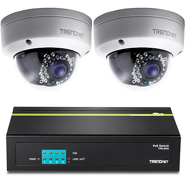 TRENDnet TV-IP321PI x 2 + TRENDnet TPE-S50