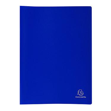 Exacompta Protège-documents A4 60 vues Bleu Protège-documents souple au format A4 - 30 pochettes - 60 vues - Polypropylène