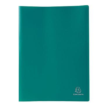 Exacompta Protège-documents A4 160 vues Vert foncé Protège-documents souple au format A4 - 80 pochettes - 160 vues - Polypropylène