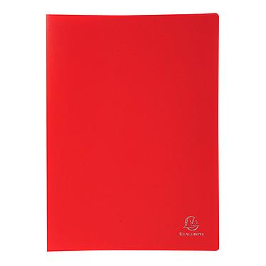 Exacompta Protège-documents A4 80 vues Rouge Protège-documents souple au format A4 - 40 pochettes - 80 vues - Polypropylène