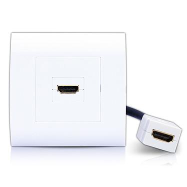 HDElite Prise murale HDMI avec rallonge
