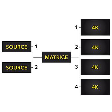 HDElite ProHD Matrice (2 x 4) 4Kx2K pas cher