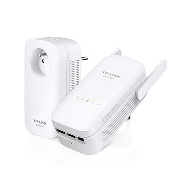 TP-LINK TL-WPA8630 KIT Adaptateur CPL AV1200 Mbps 1 port avec prise cigogne + adaptateur CPL Dual-Band Wi-Fi AC 1200 Mbps (AC867 + N300) 2X2 MIMO 3 ports
