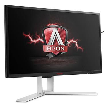 """AOC 24"""" LED - AGON AG241QX 2560 x 1440 pixels - 1 ms (gris à gris) - Format large 16/9 - 144 Hz - FreeSync/Compatible G-Sync - DisplayPort - HDMI - Pivot - MHL - Hub 3.0 - Noir/Argent"""