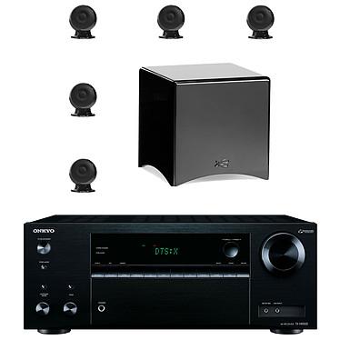 Onkyo TX-NR555 Noir + Cabasse pack Eole 3 5.1 WS Noir