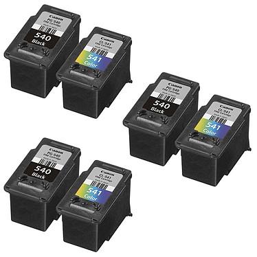Canon PG-540/CL-541 x 3 Pack de 3 multipacks (Cyan, Magenta, Jaune, Noir)