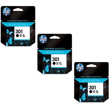 HP 301 Negro - CH561EE x 3 Pack de 3 cartuchos de tinta negros (190 páginas al 5%)