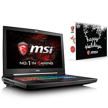 "MSI GT73VR 6RE-238FR Titan + X'mas Pack MSI for GT OFFERT ! Intel Core i7-6700HQ 16 Go SSD 256 Go + HDD 1 To 17.3"" LED Full HD 120 Hz NVIDIA GeForce GTX 1070 Wi-Fi AC/Bluetooth Webcam Windows 10 Famille 64 bits (garantie constructeur 2 ans)"