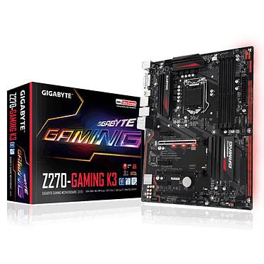 Gigabyte GA-Z270-GAMING K3 Carte mère ATX Socket 1151 Intel Z270 Express - 4x DDR4 - SATA 6Gb/s + M.2 + SATA Express - USB 3.1 - 3x PCI-Express 3.0 16x - LED