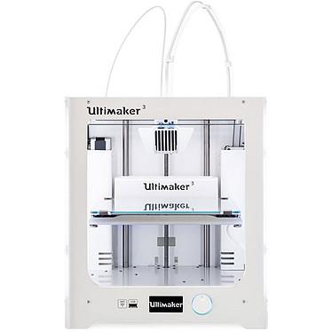Ultimaker 3 Imprimante 3D couleur professionnelle à 2 têtes d'impression compatible tous matériaux - Wi-Fi/Ethernet/USB