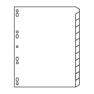 Avis Avery Intercalaires Mylar Format A4 12 touches neutre