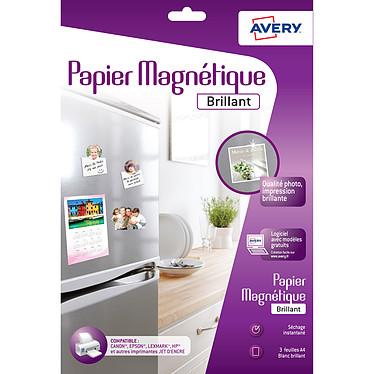 Avery Papier magnétique brillant A4 (3 feuilles)