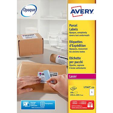 Avery Etiquettes d'expéditions 289,1 x 199,6 mm x 100 Boite de 100 étiquettes blanches 289,1 x 199,6 mm pour imprimante laser
