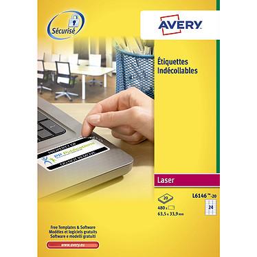 Avery Étiquettes indécollables anti-effraction 33.9 x 63.5 mm x 480