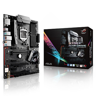 ASUS ROG STRIX Z270H GAMING Carte mère ATX Socket 1151 Intel Z270 Express - 4x DDR4 - SATA 6Gb/s + M.2 - USB 3.1 - 2x PCI-Express 3.0 16x