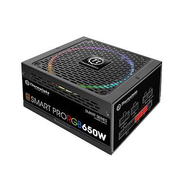 Thermaltake Smart Pro RGB 650W Alimentation modulaire 650W ATX 12V v2.4/EPS v2.92 - Ventilateur RGB 140 mm - A-PFC - 80 PLUS Bronze