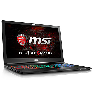 "MSI GS63 7RE-033FR Stealth Pro Intel Core i7-7700HQ 8 Go SSD 128 Go + HDD 1 To 15.6"" LED Full HD NVIDIA GeForce GTX 1050 Ti 4 Go Wi-Fi AC/Bluetooth Webcam Windows 10 Famille 64 bits (garantie constructeur 2 ans)"