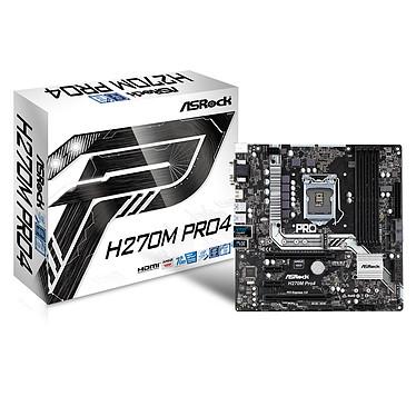 ASRock H270M Pro4 Carte mère Micro ATX Socket 1151 Intel H270 Express - 4x DDR4 - SATA 6Gb/s + M.2 - USB 3.0 - 2x PCI-Express 3.0 16x