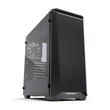 Phanteks Eclipse P400 Tempered Glass Special Edition White (Noir/Blanc) Boîtier moyen tour à rétroéclairage multicolore RGB avec fenêtre latérale en verre trempé