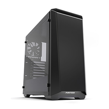 Phanteks Eclipse P400S Tempered Glass Special Edition (Noir/Blanc) Boîtier moyen tour silencieux à rétroéclairage multicolore RGB avec fenêtre latérale en verre trempé
