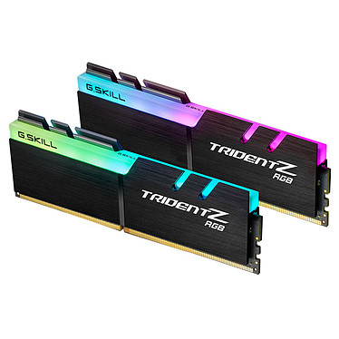 G.Skill Trident Z RGB 16 Go (2x 8 Go) DDR4 3000 MHz CL15 Kit Dual Channel 2 barrettes de RAM DDR4 PC4-24000 - F4-3000C15D-16GTZR avec LED RGB