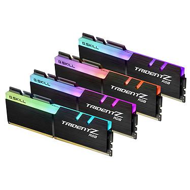 G.Skill Trident Z RGB 32 Go (4x 8 Go) DDR4 2666 MHz CL18 Kit Dual Channel 4 barrettes de RAM DDR4 PC4-21300 - F4-2666C18Q-32GTZR avec LED RGB