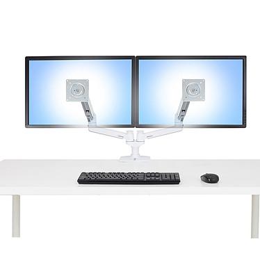 Avis Ergotron LX bi-écran juxtaposés (blanc)
