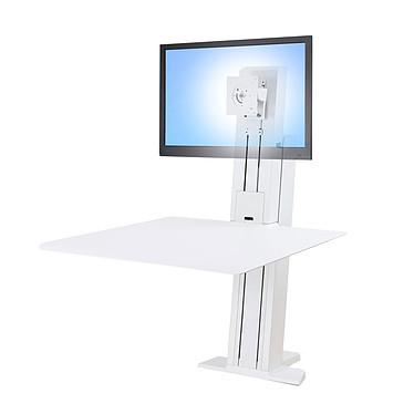 """Ergotron WorkFit-SR Mono-écran (Blanc) Station de travail assis-debout pour un écran 24"""""""