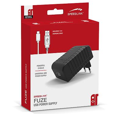 Speedlink Fuze Cargador de red de 2,1A con cable USB-C de 1,5 m para la consola Nintendo Switch