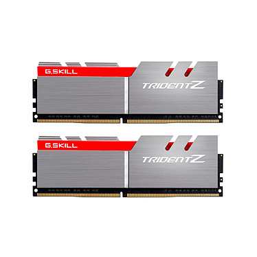 G.Skill Trident Z 16 Go (2x 8 Go) DDR4 3200 MHz CL16 Kit Dual Channel 2 barrettes de RAM DDR4 PC4-25600 - F4-3200C16D-16GTZ (garantie 10 ans par G.Skill)