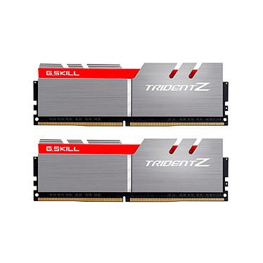 G.Skill Trident Z 16 Go (2x 8 Go) DDR4 4000 MHz CL18 Kit Dual Channel 2 barrettes de RAM DDR4 PC4-32000 - F4-4000C18D-16GTZ  Gris et Rouge