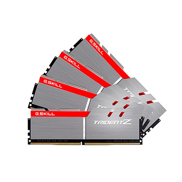 G.Skill Trident Z 32 Go (4x 8 Go) DDR4 4000 MHz CL18 Kit Quad Channel 4 barrettes de RAM DDR4 PC4-32000 - F4-4000C18Q-32GTZ (garantie 10 ans par G.Skill)
