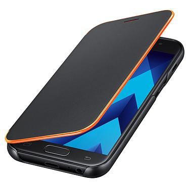 Samsung Flip Cover Neon Noir Samsung Galaxy A3 2017 Etui folio pour Samsung Galaxy A3 2017