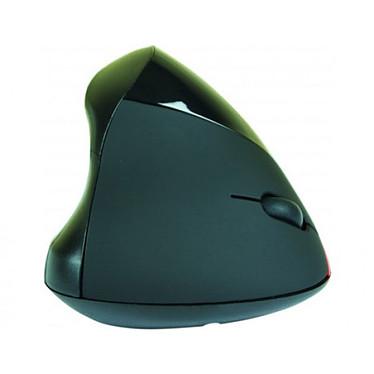 Souris filaire ergonomique verticale noire (USB) Souris filaire ergonomique - droitier - capteur optique 1750 dpi - 5 boutons