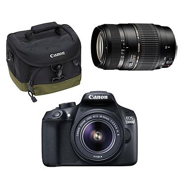 Canon EOS 1300D + EF-S 18-55 mm IS II + 100EG + Tamron AF 70-300mm F/4-5,6 Di LD MACRO 1:2 monture Canon