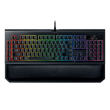 Razer BlackWidow Chroma v2 (switches Razer Orange) Clavier gaming - interrupteurs mécaniques orange silencieux et tactiles (switches Razer Orange) - rétroéclairage RGB 16.8 millions de couleurs Razer Chroma - 5 touches macros - repose-poignet magnétique amovible - AZERTY, Français