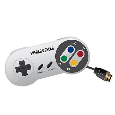 Manette USB pour rétrogaming Blanche (Nintendo Super NES)