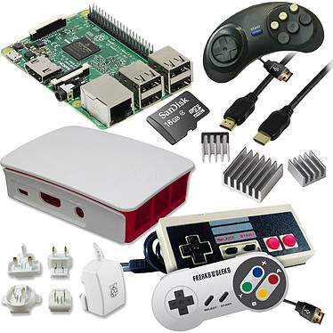 Raspberry Pi 3 Rétrogaming Kit (blanc)