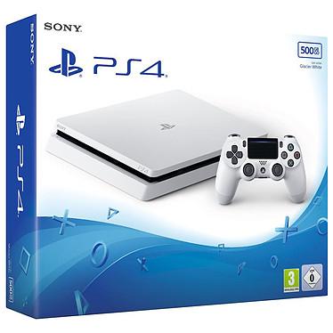 Sony PlayStation 4 Slim (500 GB) - Glacier White Consola de videojuegos de nueva generación con disco duro de 500 GB y mando inalámbrico